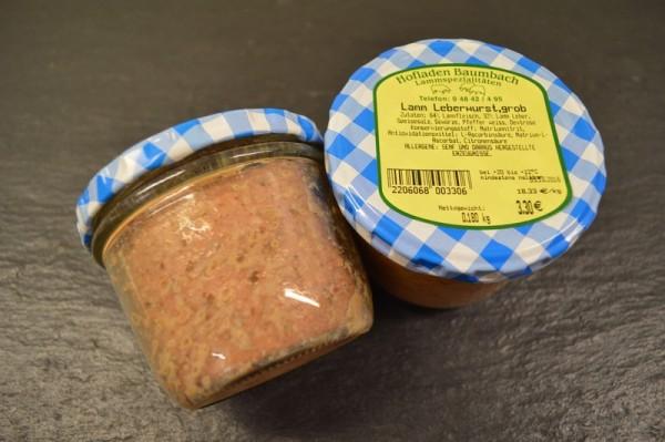 Grobe Leberwurst vom Lamm