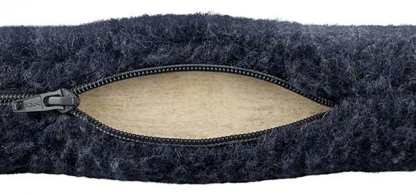 Sitzkissen aus Wollflor mit Wollfilzfüllung, Farbe: Blau