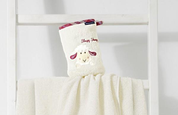 "Waschhandschuh aus Frottier, Sleepy Sheppy""; Farbe: Natur"