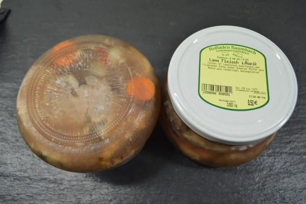 Lammfleisch in Aspik
