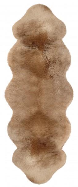 Lammfell aus 2 Fellen, Farbe: Camel