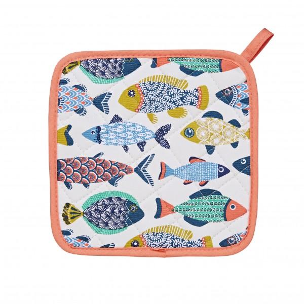 Topflappen mit Fischen
