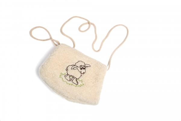 Muff für Kinder mit Schafstickerei