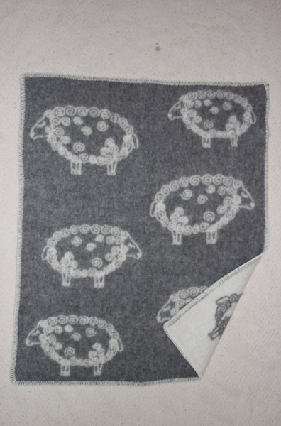 Wolldecke mit Schafen, 70 x 90 cm