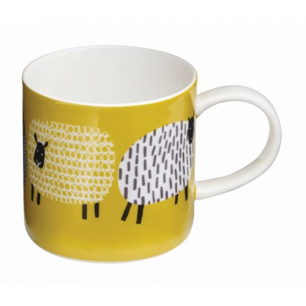 Tasse mit mehrfarbigem Schafmotiv