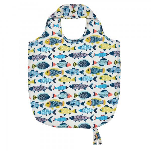 Einkaufstasche, zusammenfaltbar mit Fischen