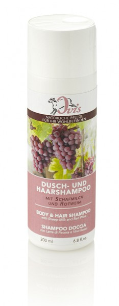 Dusch- u. Haarshampoo Rotwein