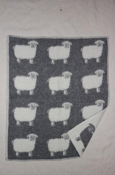 Wolldecke mit Schafen