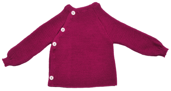Schlüttli - Baby-Pullover aus Merinowolle, Farbe: Beere