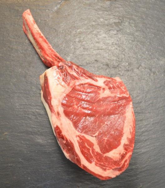 Tomahawk-Steak, dry aged vom Galloway