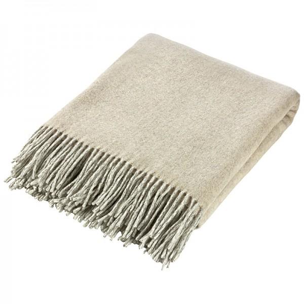 Wolldecke-flausch-100% Merinowolle, Farbe: Beige